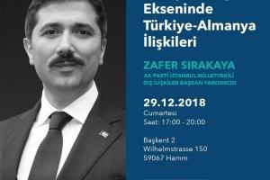 Sırakaya Almanya'da konferans verecek