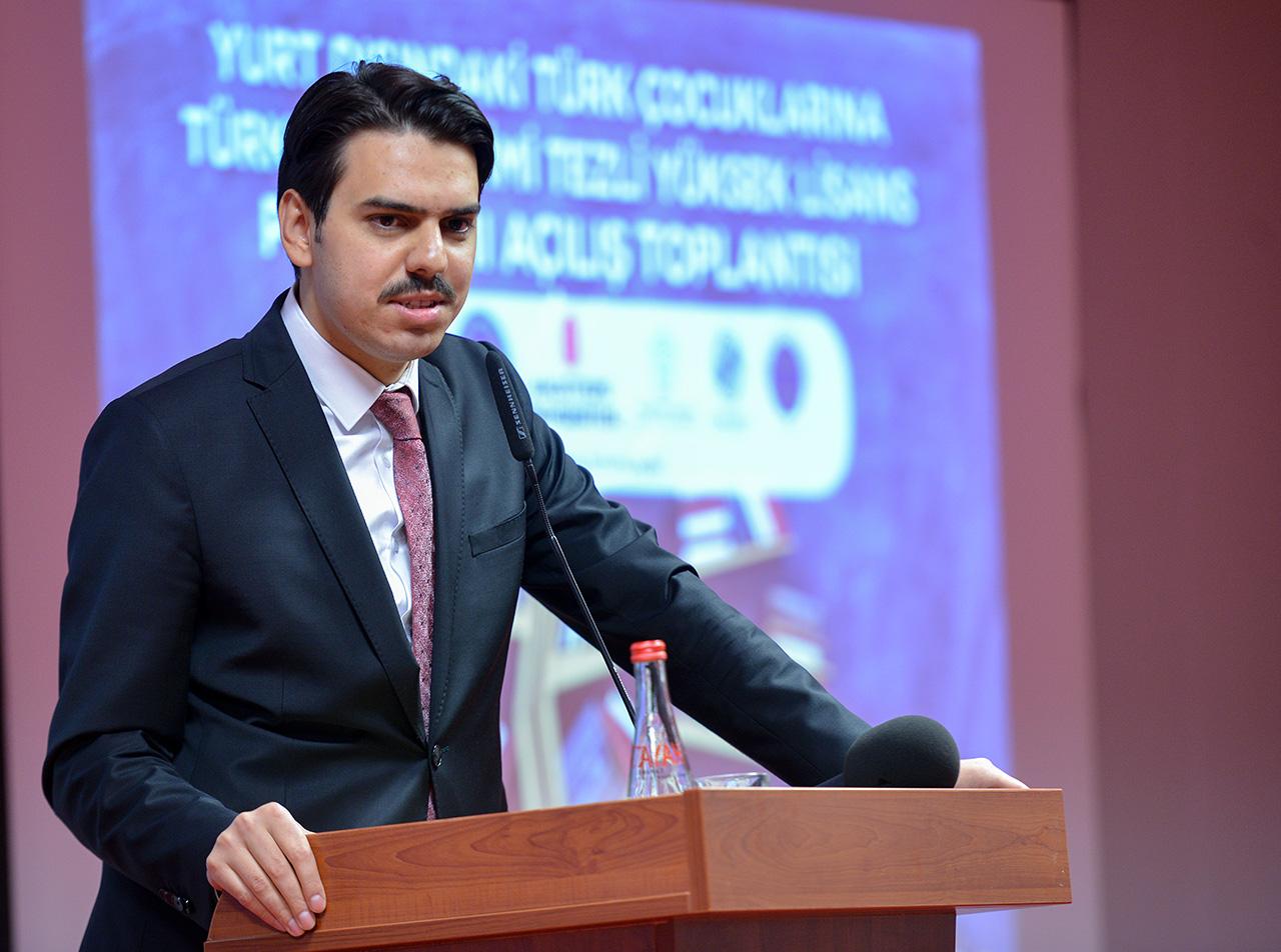 Yurt Dışındaki Türk Çocuklarına Türkçe Öğretimi Yüksek Lisans Programı'nın Açılış Toplantısı Gerçekl
