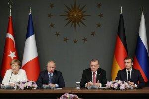 Liderler, Suriye konulu dörtlü zirve sonrası ortak basın toplantısı yaptı
