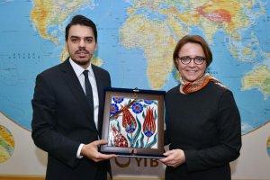 Almanya Göç, Mülteciler ve Uyumdan Sorumlu Devlet Bakanı Annette Widmann-Mauz, YTB'yi Ziyaret Etti