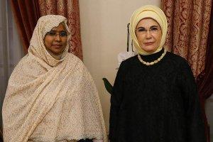 Emine Erdoğan ile Sudan Genel Eğitim Bakanı Abdalla bir araya geldi