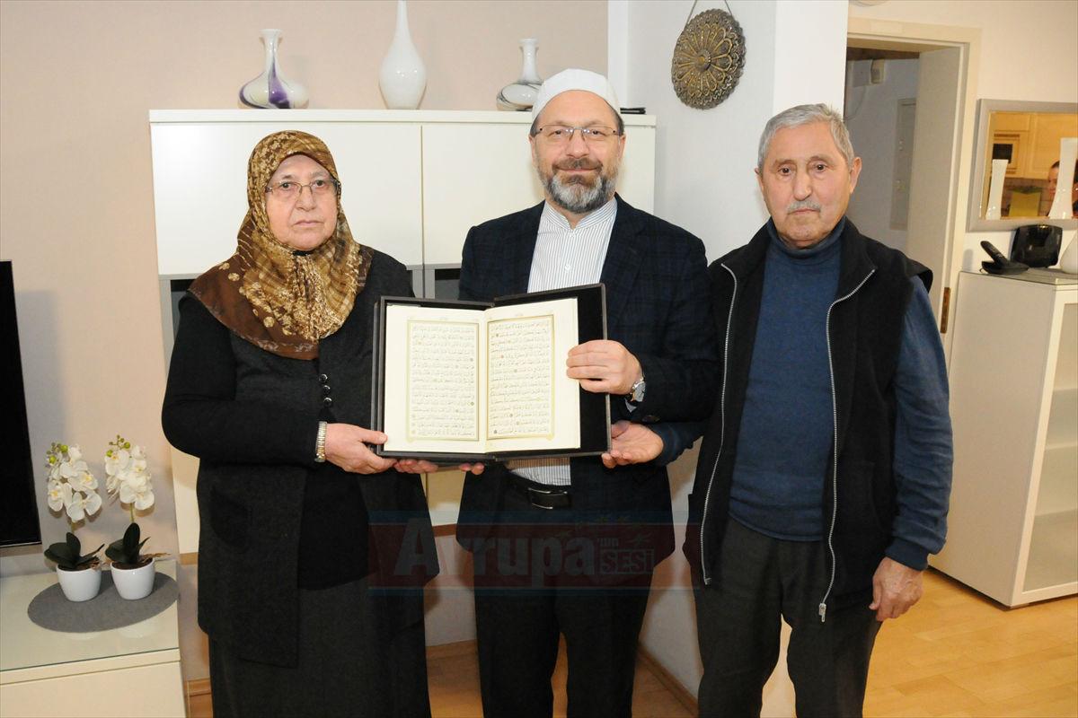 Diyanet İşleri Başkanı Erbaş'tan Solingen mağduru Genç ailesine ziyaret