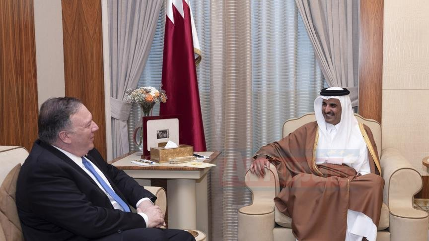 Katar Emiri ile Pompeo bölgesel gelişmeleri görüştü