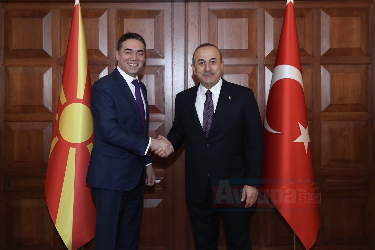 Çavuşoğlu-Dimitrov ortak basın toplantısı