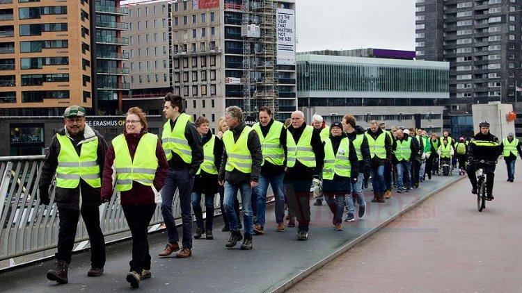 Hollanda'da 'sarı yeleklilerden' dokuzuncu eylem