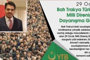 YTB Başkanı Abdullah Eren'den '29 Ocak' mesajı