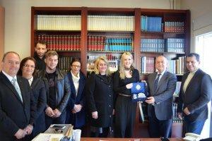BAKEŞ Başkanı Ahmet Hacıosman'a nezaket ziyaretinde bulundu