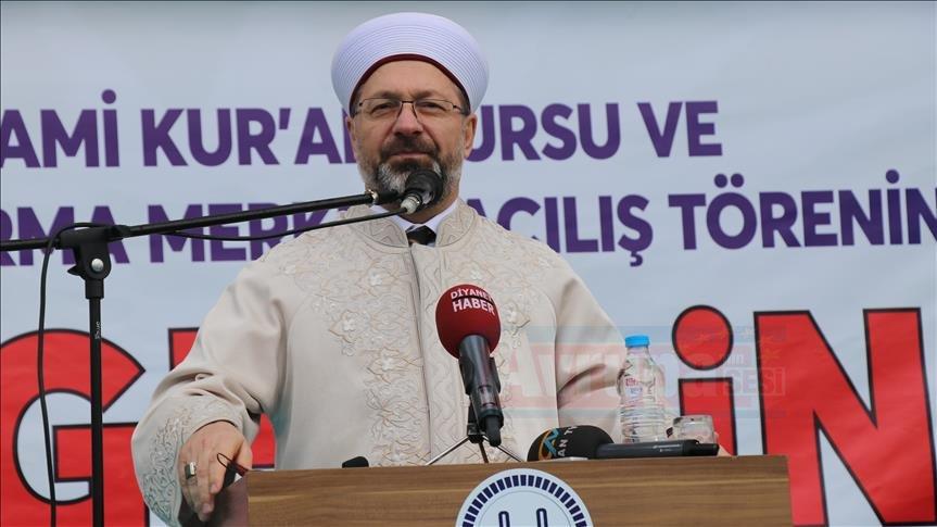 Diyanet İşleri Başkanı Ali Erbaş: Kur'an tedrisatının yapılacağı yerler daha da artacak