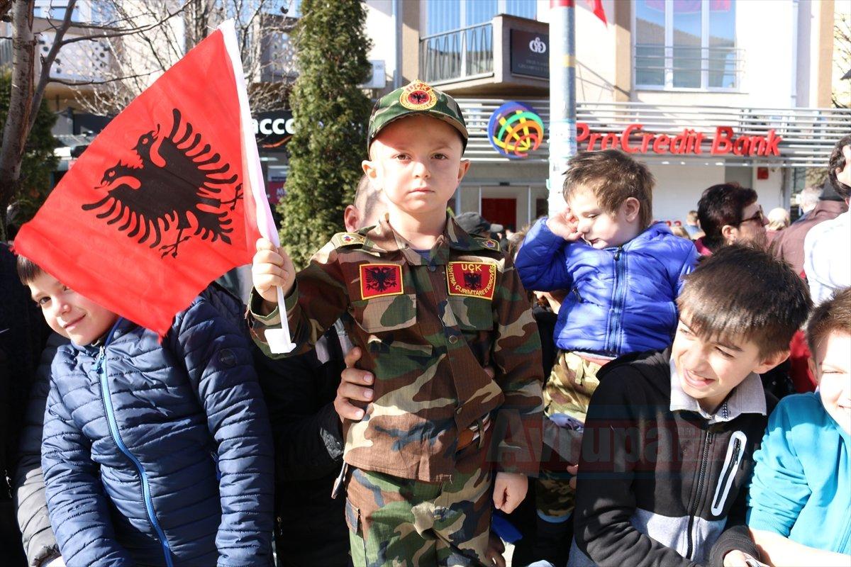 Başkent Priştine'de Kosova'nın bağımsızlığının 11. yıl dönümü kutlamaları