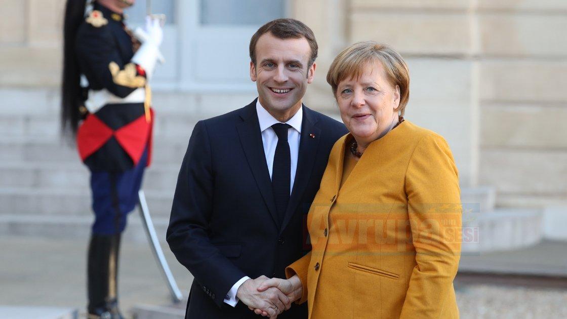 Macron ve Angela Merkel görüştü