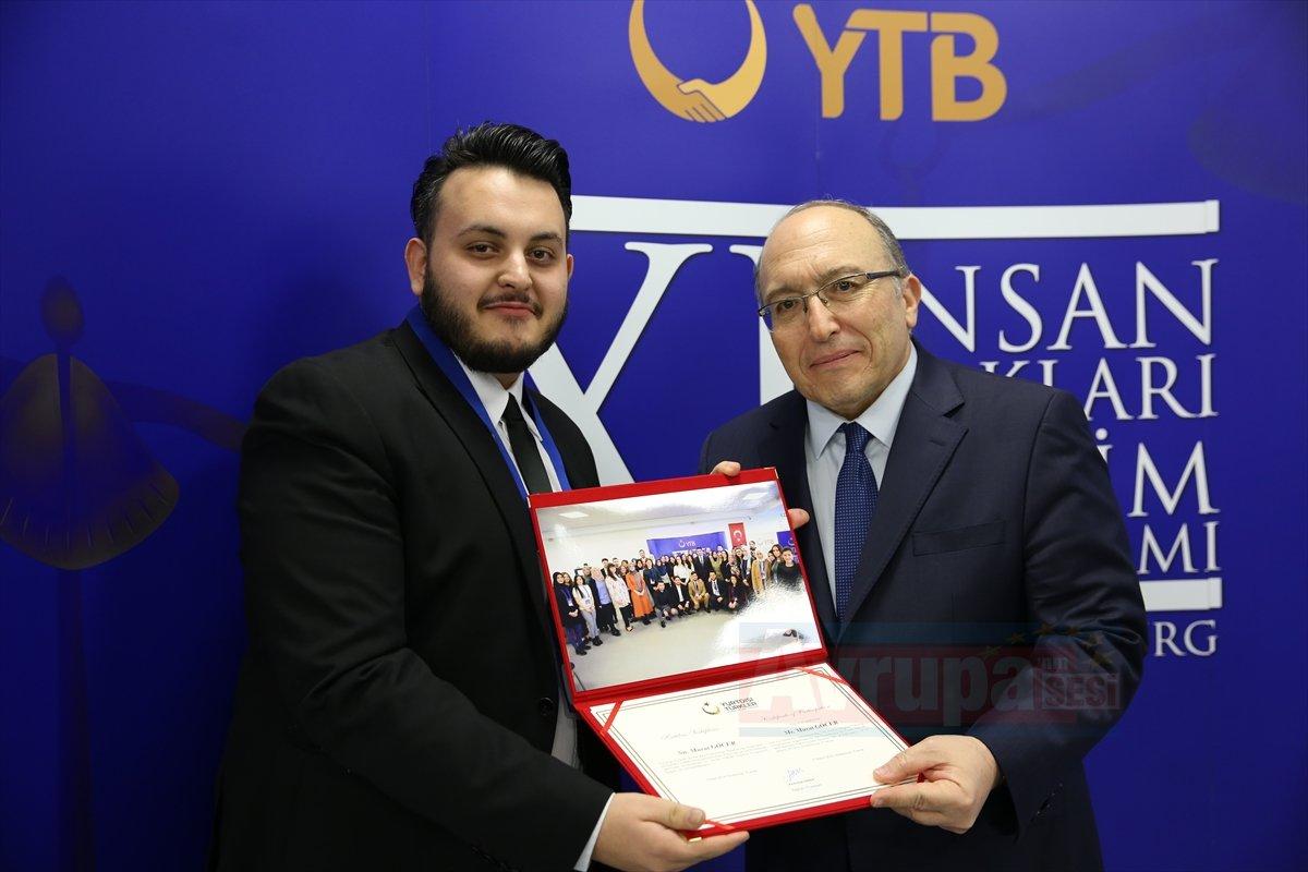 YTB'den 11. İnsan Hakları Eğitim Programı sertifika töreni