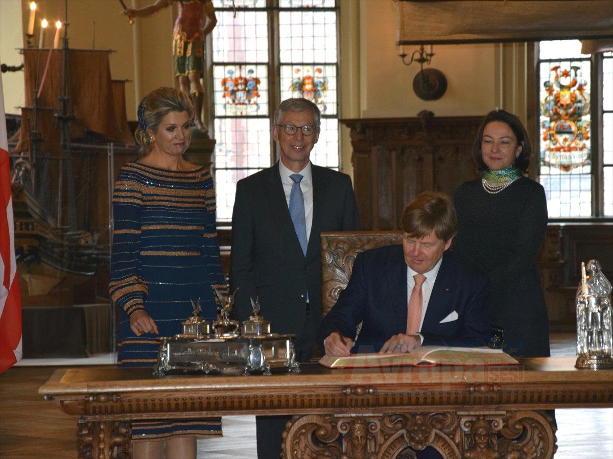 Hollanda Kralı  ve Kraliçe Maxima Bremen'de