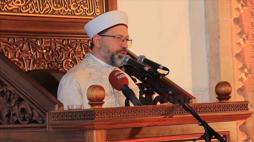 Erbaş, Bizim İslam'dan başka bir geleceğimiz yoktur