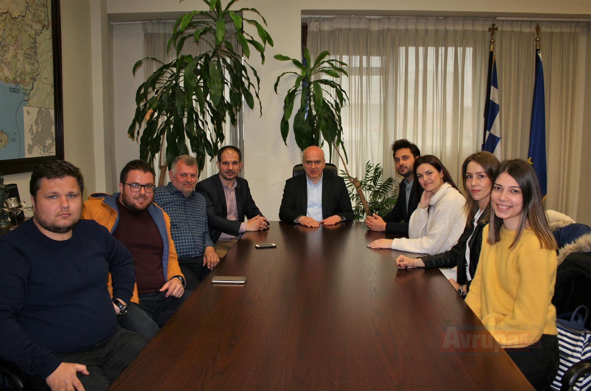 DMT Eyaleti Başkanı Metios Azınlık Kültür Derneği'nin yönetim kurulunu kabul etti