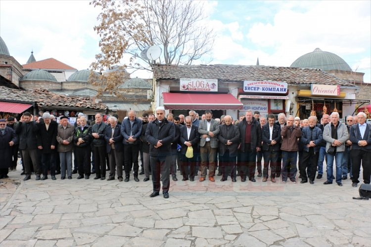 Terör saldırısında hayatını kaybedenler için Üsküp'te gıyabi cenaze namazı kılındı