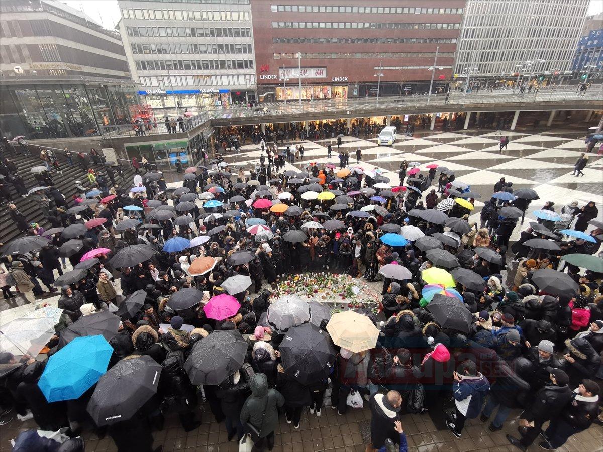 Yeni Zelanda'daki terör saldırıları İsveç'te protesto edildi
