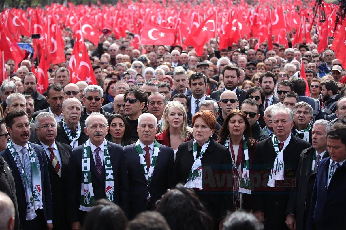 Millet İttifakı'nın Bursa mitingi