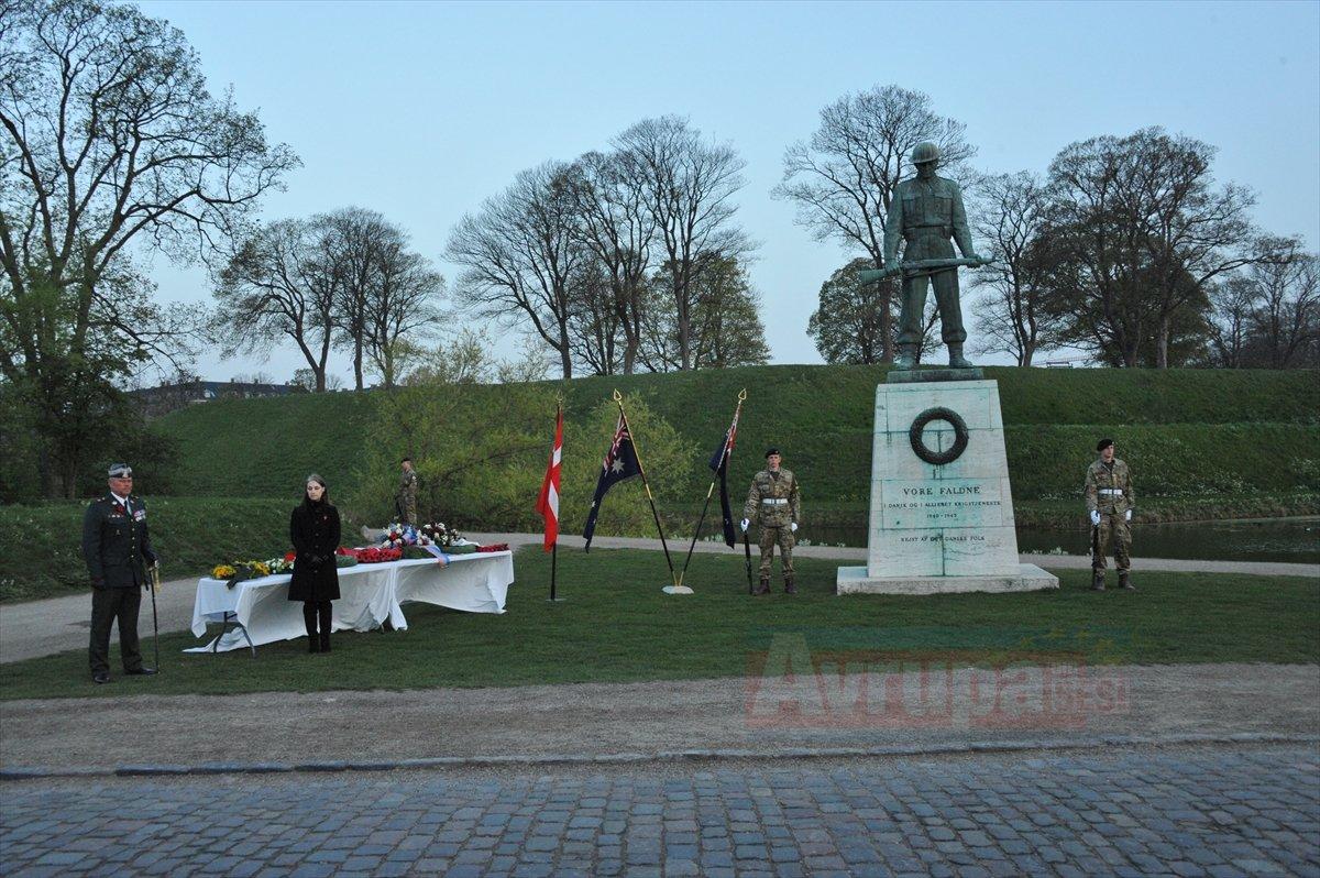 Danimarka'da Anzak Günü anma töreni yapıldı