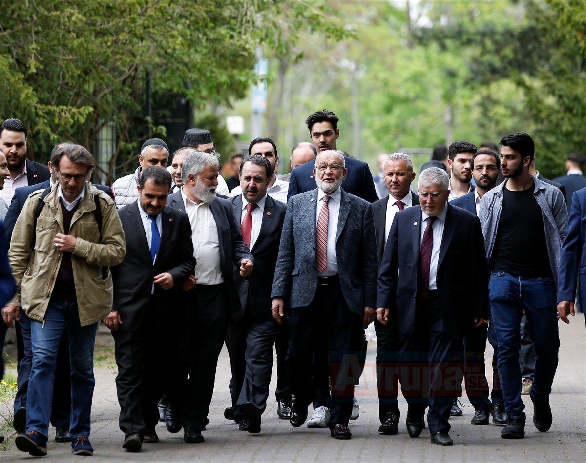 Saadet Partisi Genel Başkanı Karamollaoğlu, Almanya'da