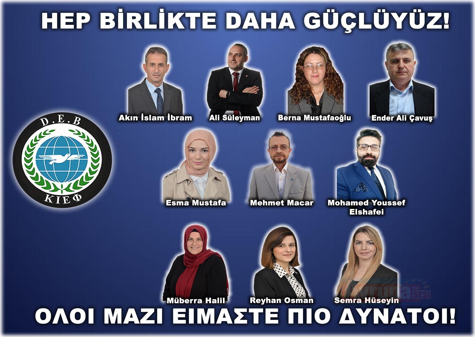 DEB Partisi 10 adayını açıkladı