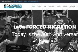 1989 Zorunlu Göç'ün 30. Yılı Özel Web sitesi yayında