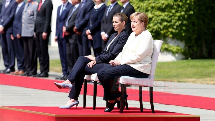 Merkel'in titreme nöbetine özel önlem alındı