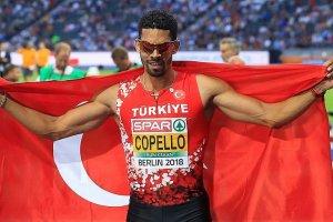 Milli sporcu Yasmani Copello, Birmingham'da birinci oldu