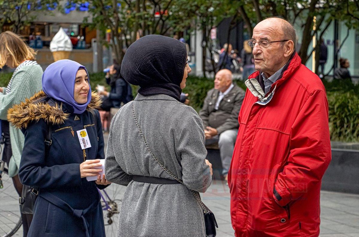 Hollanda'da Müslüman kadınlara yönelik ayrımcılığa karşı gözteri düzenlendi