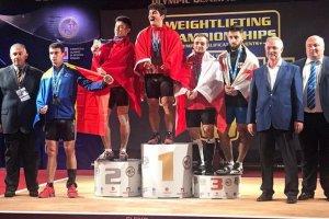 Milli halterci Muhammet Furkan Özbek'ten altın madalya