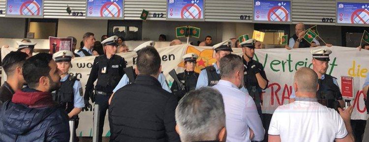 PKK/YPG yandaşları iki havalimanında THY gişesini işgal edip Türklere saldırdı