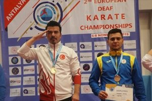 İşitme Engelliler Avrupa Karate Şampiyonası'nda 1 altın, 9 bronz madalya elde etti