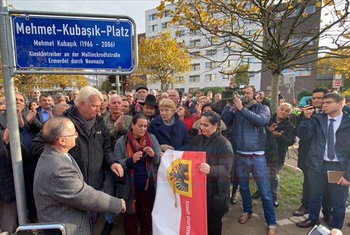Almanya'da ırkçı cinayet kurbanı Kubaşık'ın ismi bir meydana verildi