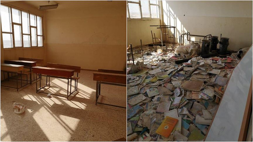 Terör örgütü Rasulayn'da okulu kullanılamaz hale getirdi