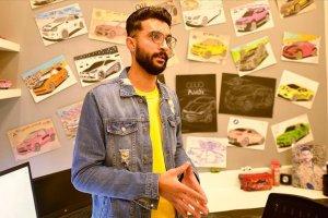Gazzeli genç uluslararası otomotiv devlerince beğenilen otomobiller tasarlıyor