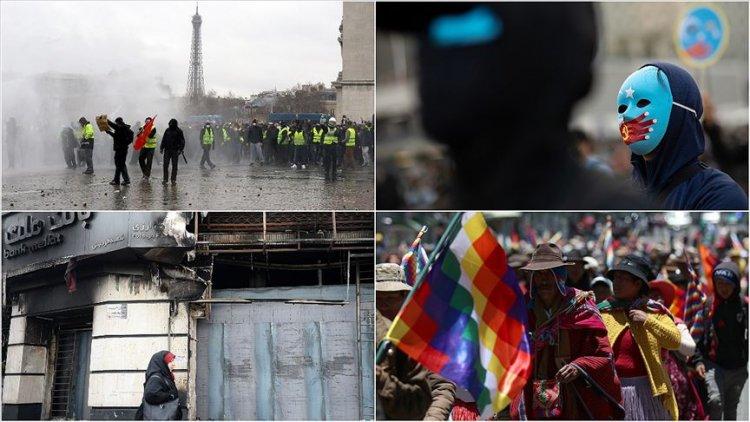 2019 dünyada 'sokak protestolarının yılı' oldu