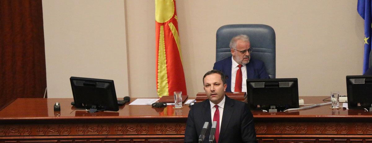 Kuzey Makedonya'da geçici hükümet meclisten güvenoyu aldı