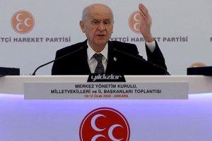Bahçeli: Komşu coğrafyalardaki çözülmenin dayanacağı son sınır Türkiye'dir