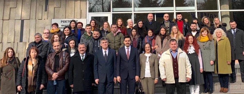 YTB Başkanı Abdullah Eren Bulgaristan'da ''Türkiye Burslarını'' Tanıttı
