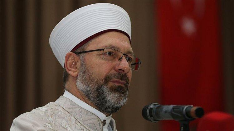 Erbaş: Din istismarı İslam ümmetinin birliğini tehdit eden ciddi bir güvenlik meselesi