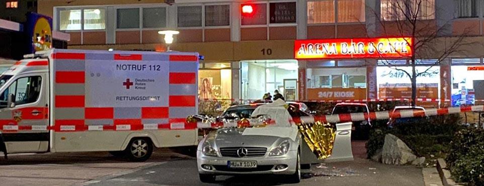 Hanau'da nargile kafeye saldırı: 8 kişi hayatını kaybetti