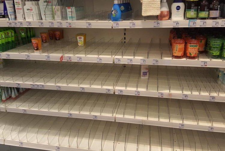 Korona virüsü marketlerde rafları boşalttı