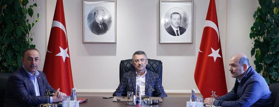 Çankaya Köşkü'nde koronavirüs tedbirlere ilişkin toplantı yapıldı