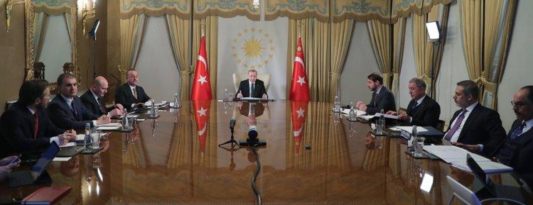 Cumhurbaşkanı Erdoğan'ın liderlerle 4'lü video konferansı