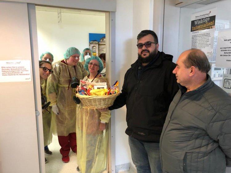Sağlık çalışanlarına moral ve teşekkür ziyareti