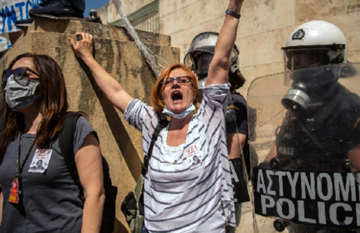 Yunanistan'da eğitim sisteminde yapılan değişiklikler protesto edildi