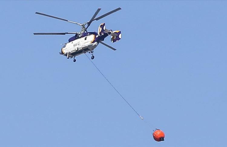 KKTC'de çıkan yangına Türkiye'den iki helikopter gönderildi
