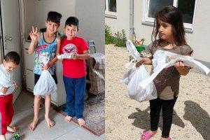 YTB desteğiyle DİTİB'den mültecilere tatlı ve simit ikamı