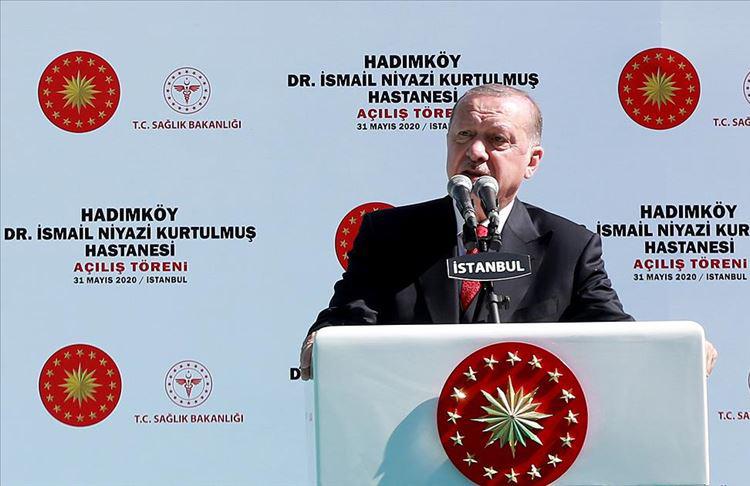 Cumhurbaşkanı Erdoğan: Buram buram tarih kokan ve vatandaşlarımıza şifa vesilesi olacak bir eser ort