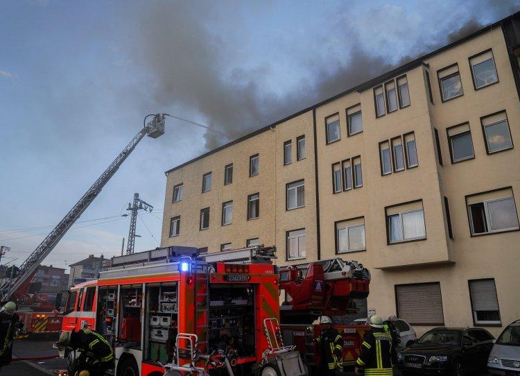 Karantina evinde yangın çıktı