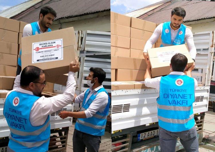 TDV'dan Bingöl'deki depremden etkilenen ailelere yardım